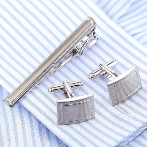 Spinki do mankietów z krawatem na traditional - 1