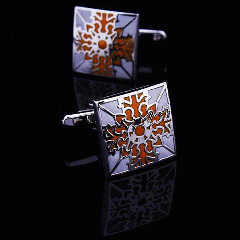 Spinki do mankietów kwiat pomarańczy - 1