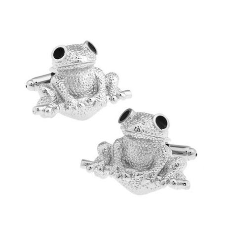 Spinki do mankietów żaba - 1