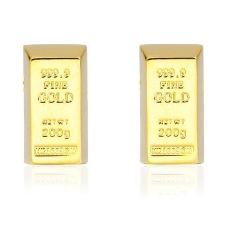Spinki do mankietów ze złotej cegły