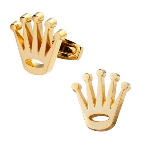 Spinki do mankietów złote korony - 1