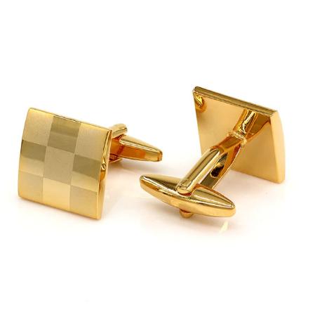 Spinki do mankietów złota szachownica - 1