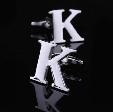 Spinki do mankietów litera K