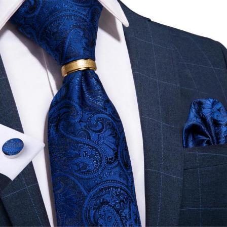 Spinki do mankietów z krawatem Thanatos
