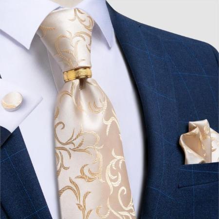 Spinki do mankietów i krawat Hélios