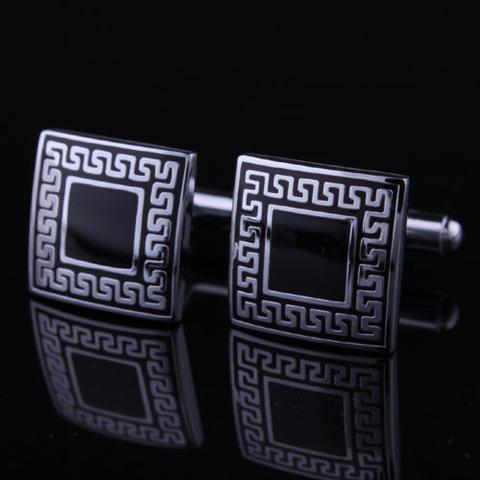 Spinki do mankietów - starożytne symbole - kwadrat - 1