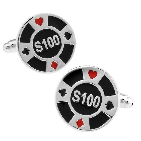 Spinki do mankietów żetony do pokera