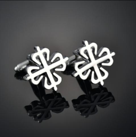 Spinki do mankietów srebrne śnieżynka - 2