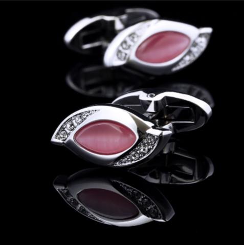 Spinki do mankietów w kolorze różowym - 2