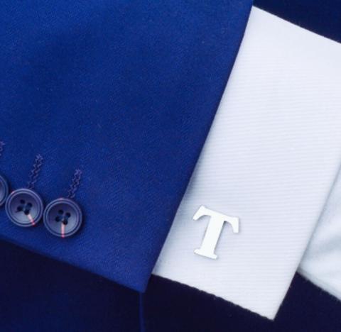 Spinki do mankietów litera T - 2