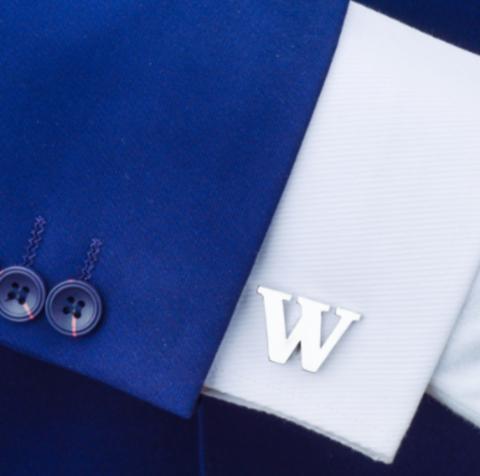 Spinki do mankietów litera W - 2