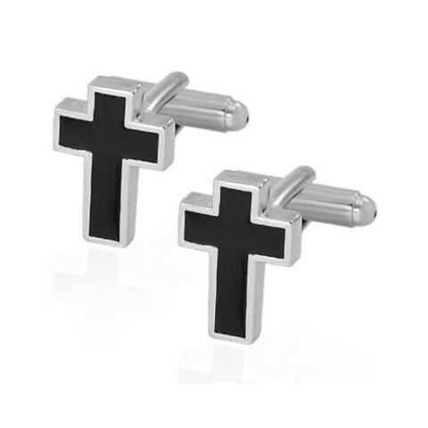 Spinki do mankietów krzyż - 2
