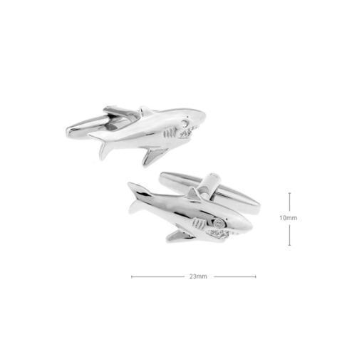 Spinki do mankietów srebrny rekin - 2