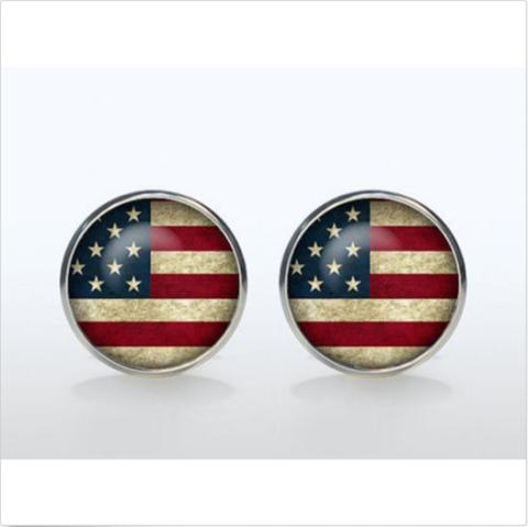 Spinki do mankietów w kolorze amerykańskich flag - 2