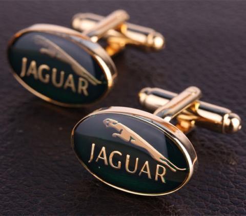 Spinki do mankietów Jaguar gold - 2
