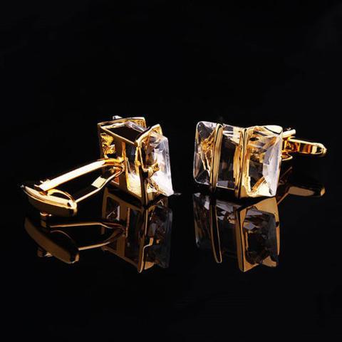 Spinki do mankietów Gemstone gold - 2