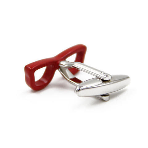 Spinki czerwone okulary - 2