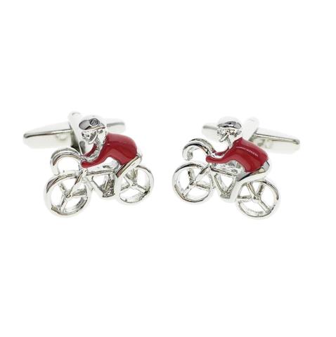 Spinki do mankietów Red Cyclist - 2