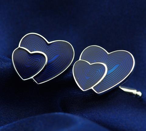 Spinki do mankietów w kształcie serca - 2
