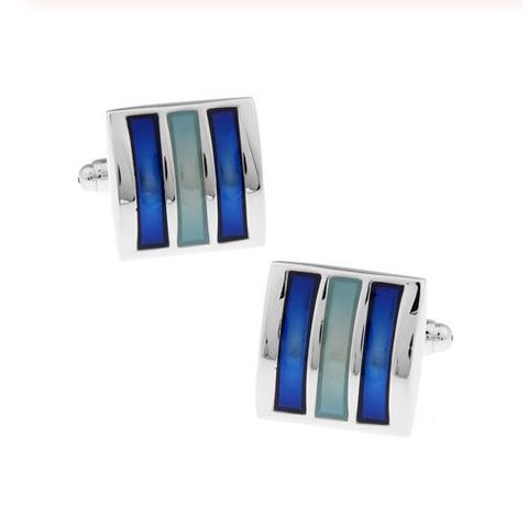 Spinki do mankietów niebieska triada - 2