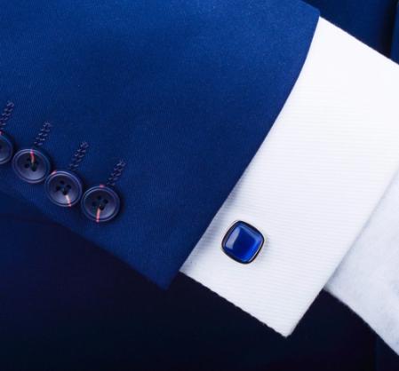 Spinki do mankietów w kolorze niebieskim - 2