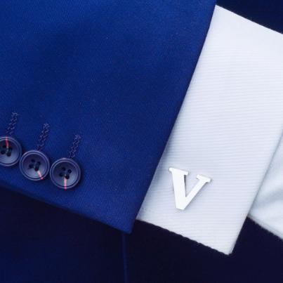 Spinki do mankietów litera V - 2
