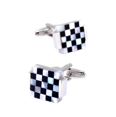 Spinki do mankietów perłowa mozaika - 2