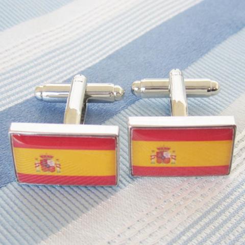 Spinki do mankietów flaga hiszpańska - 2
