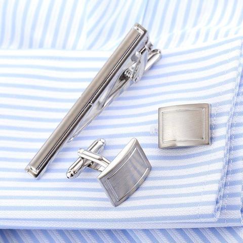 Spinki do mankietów z krawatem na traditional - 2