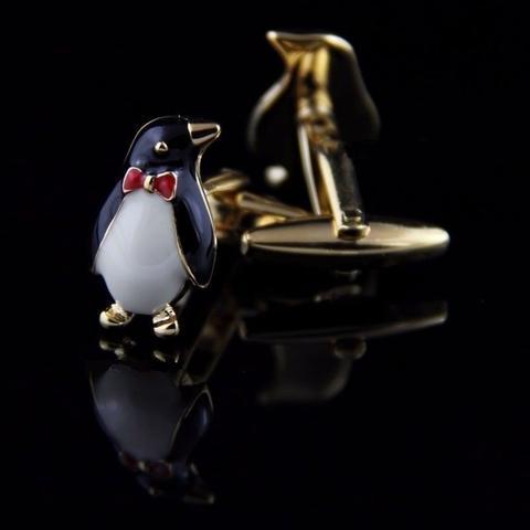 Spinki do mankietów pingwin z motylem - 2