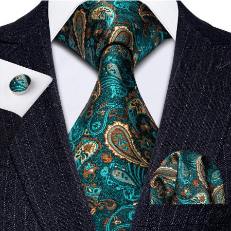 Spinki do mankietów z krawatem i szalikiem - 2