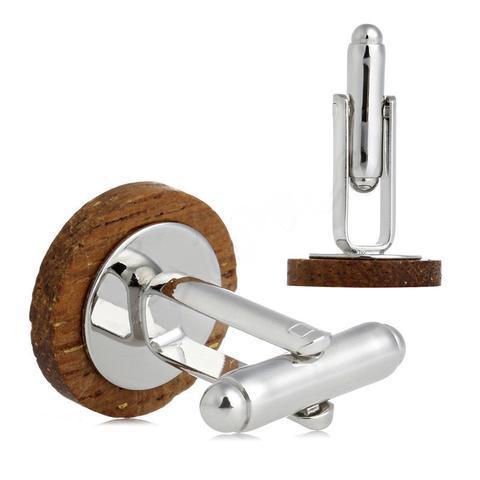 Spinki do mankietów przycisk drewniane - 3