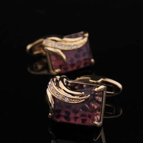 Spinki do mankietów royal purple - 3