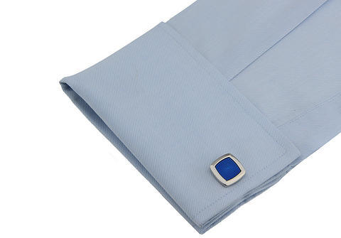 Niebieskie spinki do mankietów - 3
