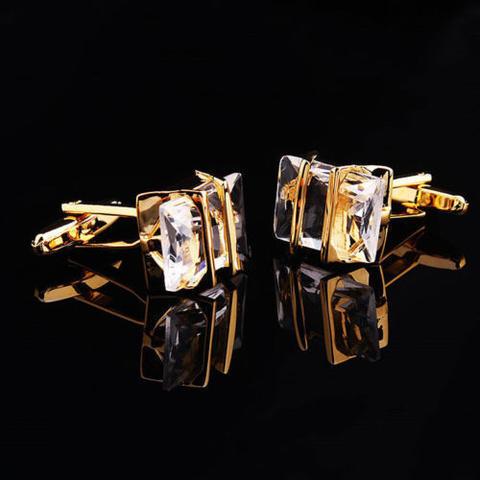 Spinki do mankietów Gemstone gold - 3