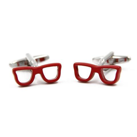 Spinki czerwone okulary - 3