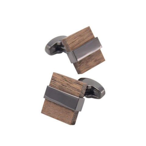 Spinki kwadratowy drewna - 3