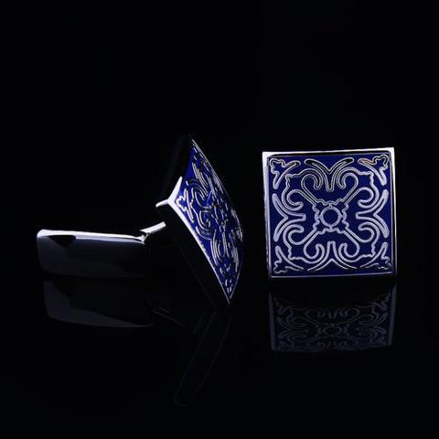Spinki do mankietów niebieski ślub - 3
