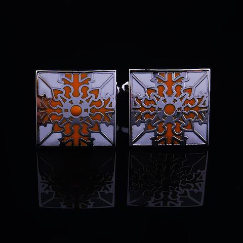Spinki do mankietów kwiat pomarańczy - 3