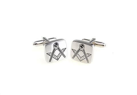 Spinki masonem silver - 3