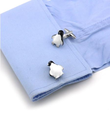 Spinki do mankietów z pingwinem - 3