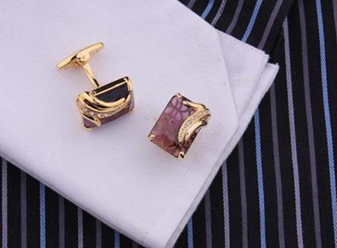 Spinki do mankietów royal purple - 4