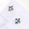 Spinki do mankietów Lepton Blue Fleur De Lis - 4/4