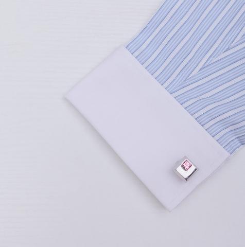 Spinki do mankietów ze stali i krawat klamrą Arkansas - 4